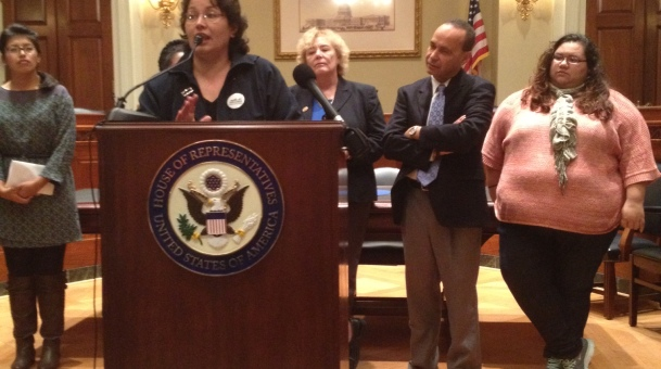 Harrisonburg Virginia Organizing Leaders Spoke Out on Immigration in Washington, D.C. Today