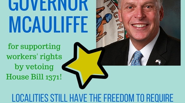 Thank you, Governor McAuliffe