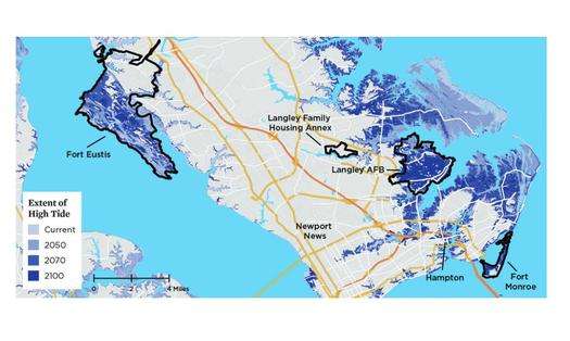 Sea Rise Threat to Norfolk, Atlantic and Gulf Military Bases