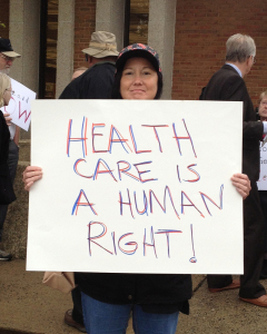 healthcare human right sign