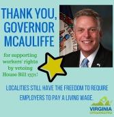 Thank you, Governor McAuliffe