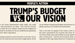 Trump's Budget vs. Our Vision